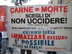 CARNE EQUALS MORTE STRISCIONE